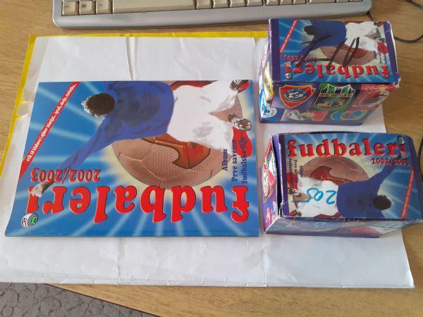 Fudbaleri 2002/2003 Album + 2 kutije sličica